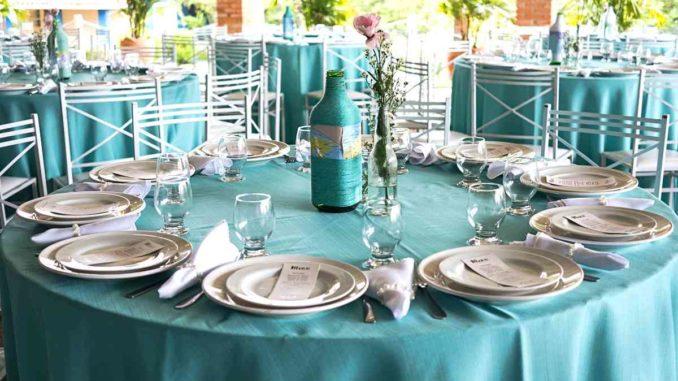 Tischdekorationen, Familienfeier