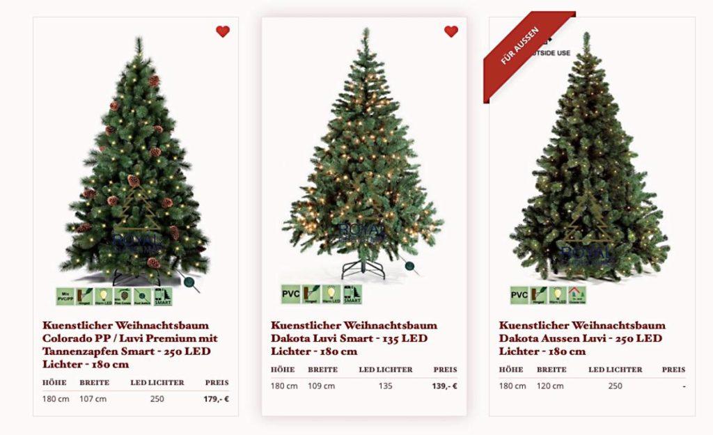 künstliche Weihnachtsbäume wie echt, wo künstliche Weihnachtsbäume kaufen